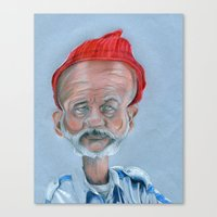 zissou Canvas Prints featuring Zissou by Tristan Chace