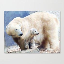 Polar Family Canvas Print
