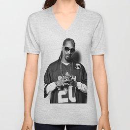 Snoop Dogg Poster ,Gangsta Rap, Hip Hop, Rapper Unisex V-Neck