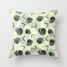 Snails Throw Pillow