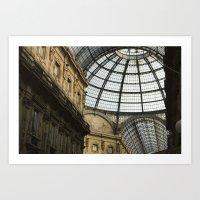 milan Art Prints featuring Milan by Liz Scheiner
