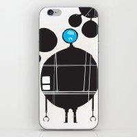 robot iPhone & iPod Skins featuring robot by alex eben meyer