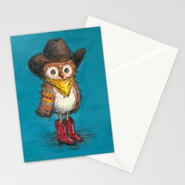 Cowboy Owl Stationery Cards