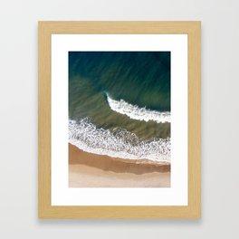 Breaking Waves - Aerial Drone Photograph by Nalu Art Studio Framed Art Print