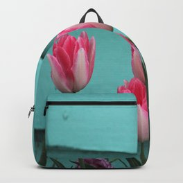 Tulips Against The Wall Backpack