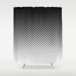 Halftone Gradient Shower Curtain