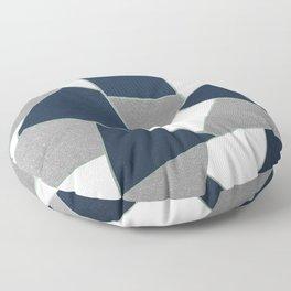 Navy Blue Gray White Mint Geometric Glam #1 #geo #decor #art #society6 Floor Pillow