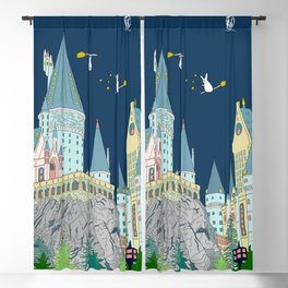 Wizard Bunny and Castle Blackout Curtain