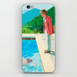 stand and swim people iPhone Skin