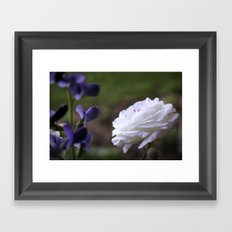 An Elegant Conversation Framed Art Print