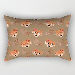 Motif renard (beige) Rectangular Pillow