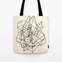 crystals Tote Bags featuring Crystals by Anderbear