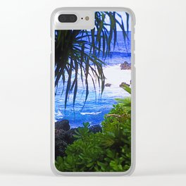 Secret Surf Location in Maui, Hawaii Clear iPhone Case