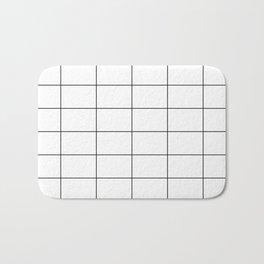 Black and White Grid Pattern Bath Mat