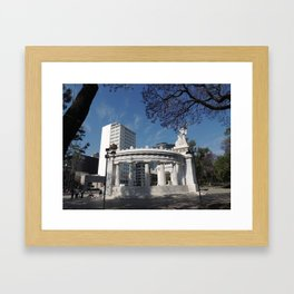 Monumento a Benito Juarez Framed Art Print