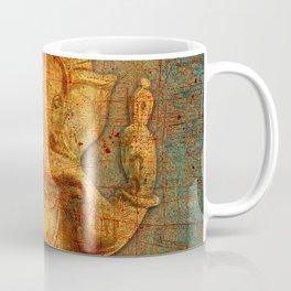 Lord Ganesh On a Distress Stone Background Coffee Mug
