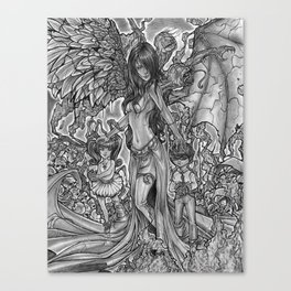 Devourer of Angels Canvas Print