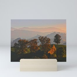 Hilly Landscape Mini Art Print