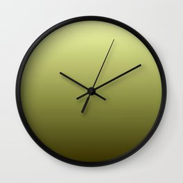 Yellow Olive Green Backgrund Wall Clock