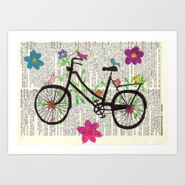 Hippie Bike Art Print