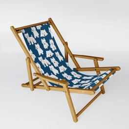 Westies on Blue Sling Chair