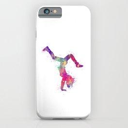 Hip-Hop Girl 3 Art Colorful Purple Watercolor Gift Hip-Hop Dance Art Hip-Hop Dancer Choreography Art iPhone Case