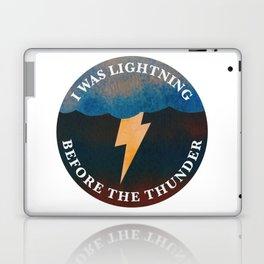 i was lightning before the thunder Laptop & iPad Skin