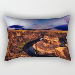 Horseshoe Bend Starseeds - Starry Sky Night at Grand Canyon Arizona Rectangular Pillow