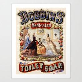 Vintage poster - Dobbins Medicated Toilet Soap Art Print