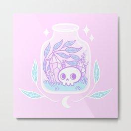 Pastel Terrarium / Pink Metal Print
