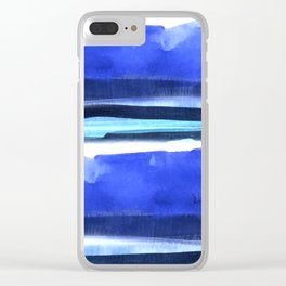Wave Stripes Abstract Seascape Clear iPhone Case