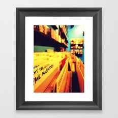 You help me. Framed Art Print