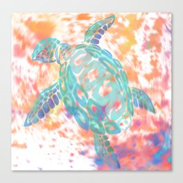 Turtle Pink Canvas Print