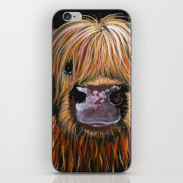 Scottish Highland Cow ' HENRY ' by Shirley MacArthur iPhone Skin