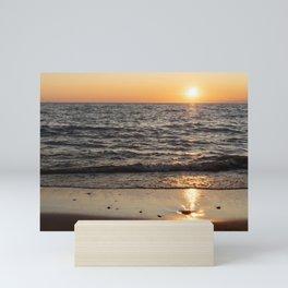 Sunset in Lake Michigan Mini Art Print