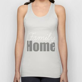 Family Home Unisex Tank Top
