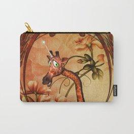 Funny, cute unicorn giraffe Carry-All Pouch