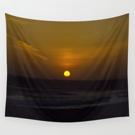 Sunset across the Ocean Wall Tapestry