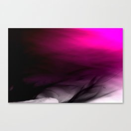 Pink Flames Pink to Black Gradient Canvas Print