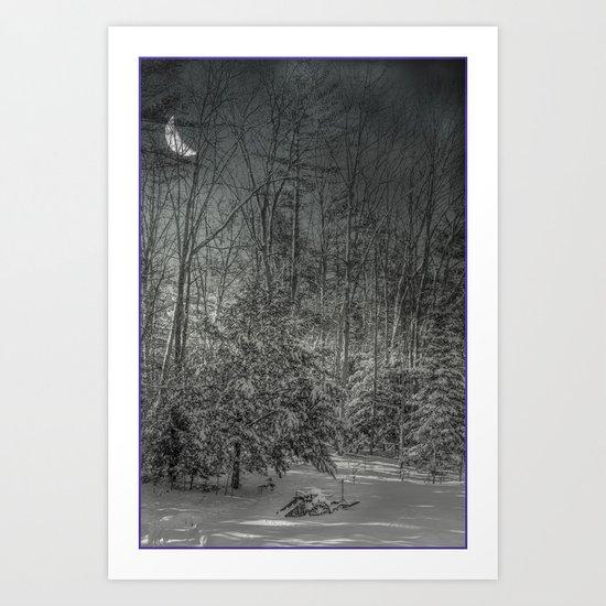 On a winters night Art Print