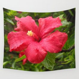 Flower in the Rain Wall Tapestry