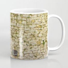 Old stone wall in St.Paul de Vence,France. Coffee Mug