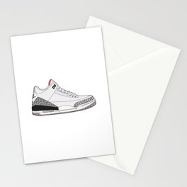 Jordan 3 - White Cement Stationery Cards