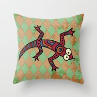 lizard Throw Pillows featuring Lizard by Sproot