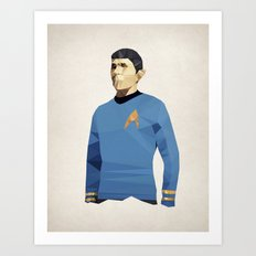 Polygon Heroes - Spock Art Print