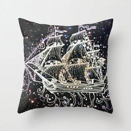 The Great Sky Ship II Throw Pillow