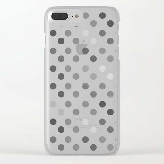 Polka Proton Pink Clear iPhone Case