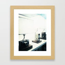 Vintage Camera Lamps Framed Art Print