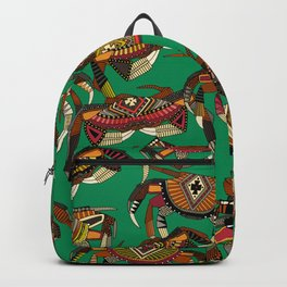 crabs green Backpack