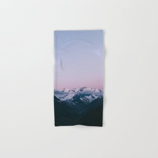 Sunset Mountains (pastel) Hand & Bath Towel